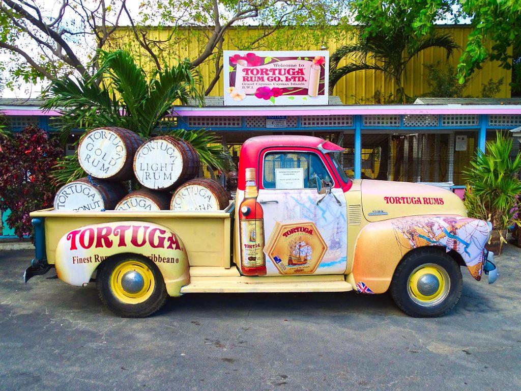 Außendarstellung der Tortuga Rum Cake Factory
