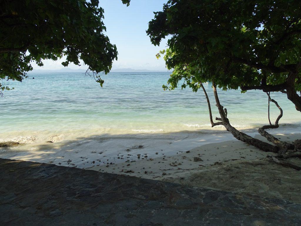 Cayo Levantado mit Blick auf das Festland